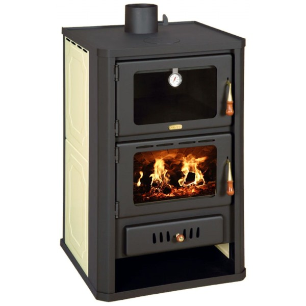 Wood Burning Stove Oven Boiler Cooker Solid 20kw Colored Sides DIFFERENT COLORS
