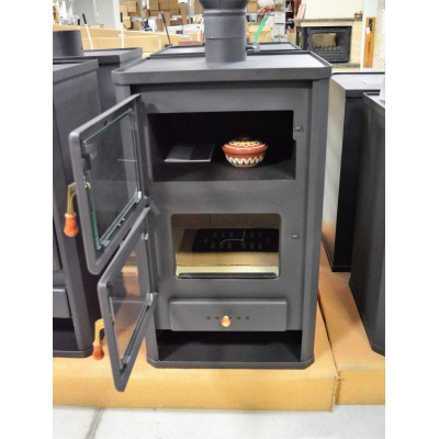Wood Burning Stove Oven Cooking Fireplace Log Burner Solid Fuel 14KW Prity FG