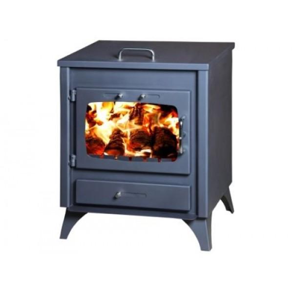 Wood Burning Stove Rare Back Flue Outlet Fireplace Log Burner 12kw PANDORA C