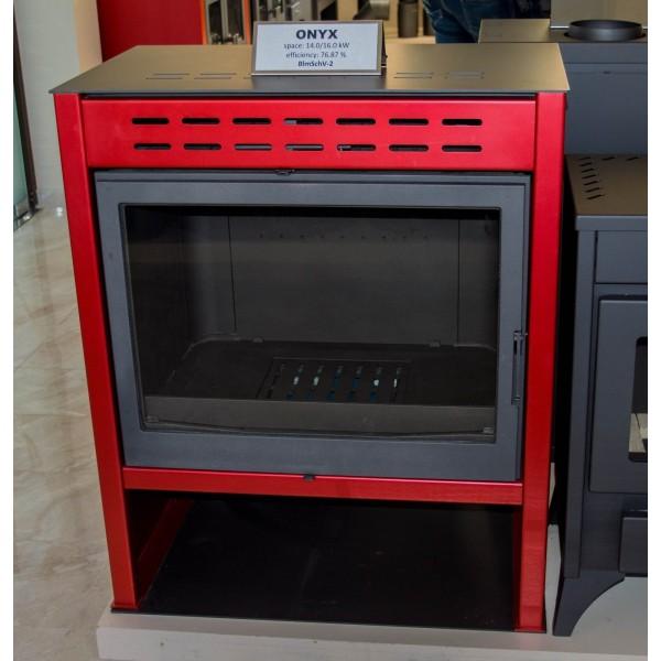 Wood Burning Stove RED Fireplace Log Burner Woodburning Stove Top Flue