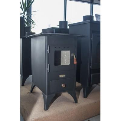 Wood Burning Stove Retro Cast Iron Plate Log Burner Fireplace Mini 5kw