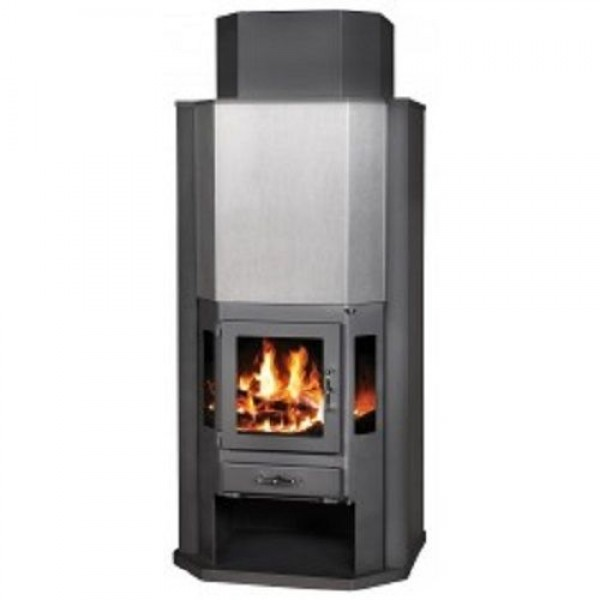 Wood Burning Stove Integral Boiler Thermal Discharger System  Fireplace 14 kw