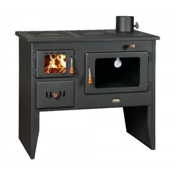 Wood Burning Stove Solid Fuel Cast Iron Top Oven Cooking Heatexchanger Option