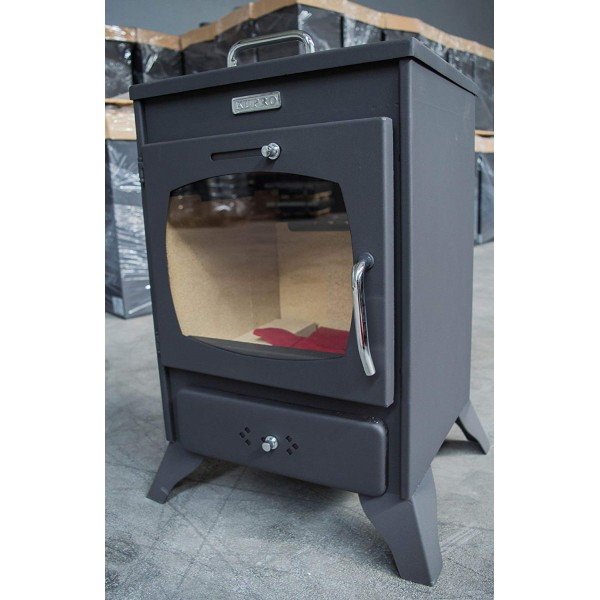 Wood Burning Stove Solid Fuel Fireplace Log Burner KUPRO 8 KW REAR EXIT