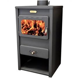 Wood Burning Stove Solid Fuel Fireplace Log Burner KUPRO Style10 kw