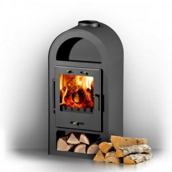 Wood Burning Stove Solid Fuel Fireplace Log Burner Niche 6-9 kW  ODIN BImSchV 1