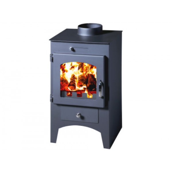 Wood Burning Stove Multi Fuel Fireplace Log Burner Woodburning 5kw Top Flue