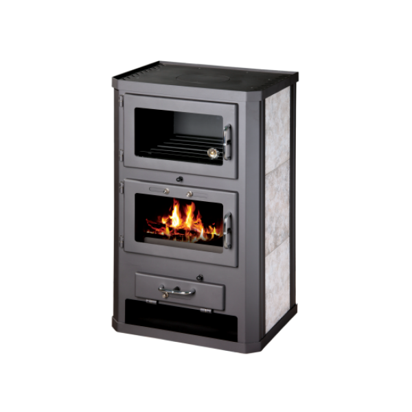 Wood Burning Stove Oven Fireplace Cooker Solid Fuel Log Burner 12 kW BImSchV 2