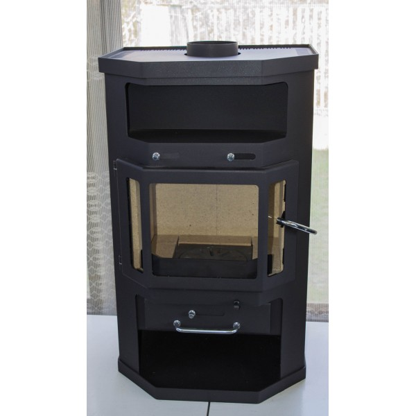 Wood Burning Stove Fireplace Log Burner Ceramic Lining Modern 10kw BImSchV 1