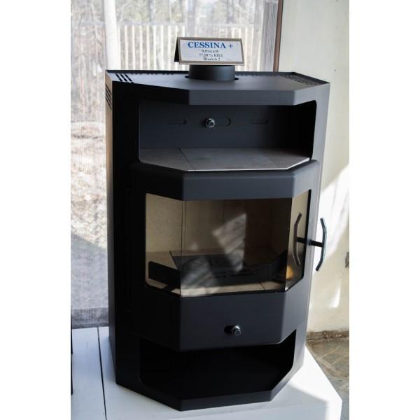 Wood Burning Stove Fireplace Log Burner Modern Multi Fuel CESSINA 9.5 kW