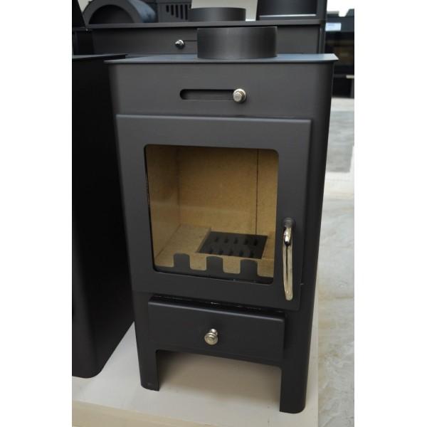 Wood Burning Stove Fireplace Log Burner Solid Fuel Top Flue 5-7 Kw BImSchV 2