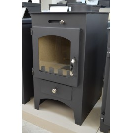 Wood Burning Stove Fireplace Log Burner Solid Fuel Top Flue 9.5 Kw BORA C