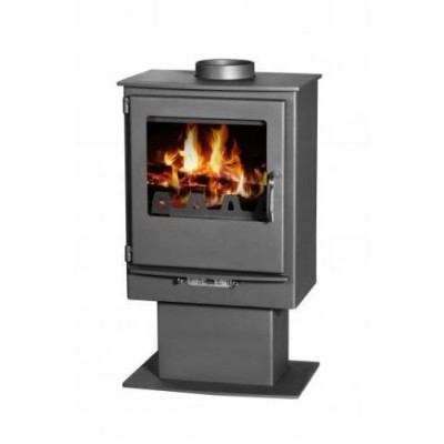 Wood Burning Stove Fireplace Log Burner SolidFuel LEO 5 kW TOP OR REAR FLUE