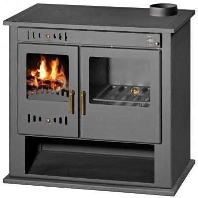 Wood Burning Stove Cooker Integral Boiler Oven for Central Heating Fuel 9-15 kW