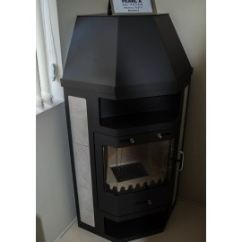 Wood Burning Stove Corner Fireplace Log Burner Ceramic Lining 14kw BImSchV
