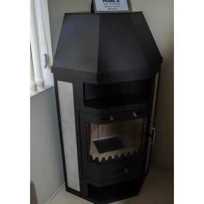 Wood Burning Stove Corner Fireplace Log Burner Ceramic Lining 14kw BImSchV