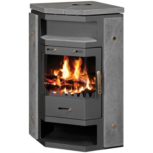 Wood Burning Stove Corner Model 18 kW Integral Boiler Low Emissions BlmSchV-2