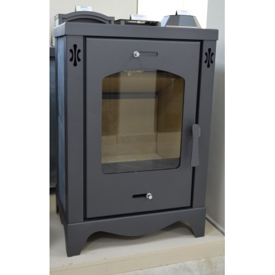 Wood Burning Stove Fireplace Modern Burner Log Stone Lining Woodburning 9kw