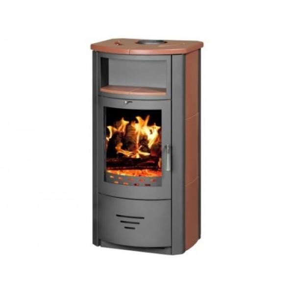 Wood Burning Stove Fireplace Modern Log Burner Woodburning Stove 7kw BImSchV2