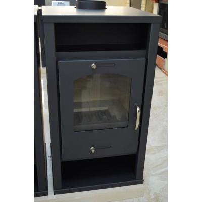 Wood Burning Stove Fireplace Modern Log Burner Woodburning Stove Top Flue 11.5kw