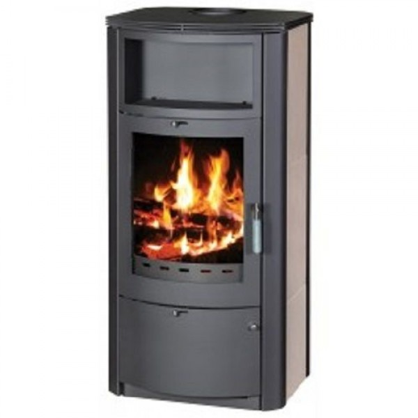 Wood Burning Stove Fireplace Modern Log Burner Woodburning Stove With Niche 7 kw