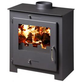 Wood Burning Stove Fireplace Log Burner Top Flue 8-11 Kw Bora LUX BImSchV 2