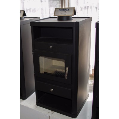 Wood Burning Stove Integral Boiler Fireplace Central Heating 10-16 kW NORMA B