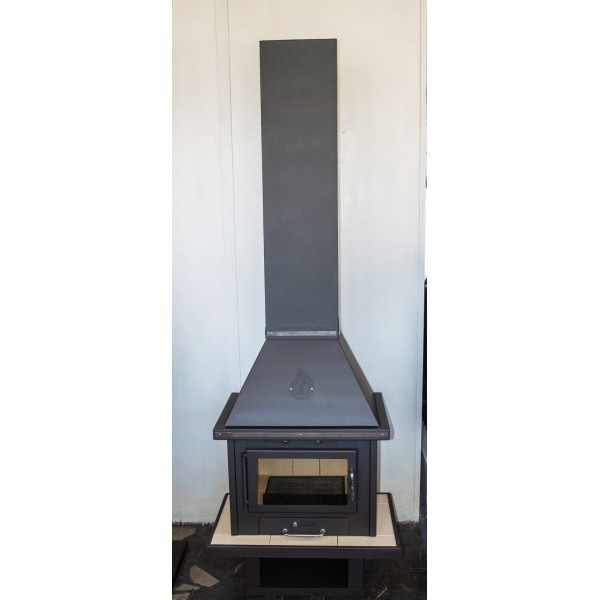 Wood Burning Stove Fireplace Modern Solid Fuel Log Burner New LUX INOX 14kw