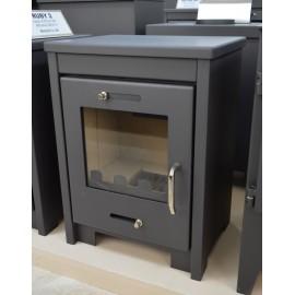 Wood Burning Stove Fireplace Modern Solid Log Burner Top Flue Outlet 8 Kw RUBY