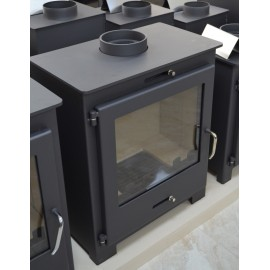 Wood Burning Stove Fireplace Modern Solid Log Burner Water Jacket 11 Kw