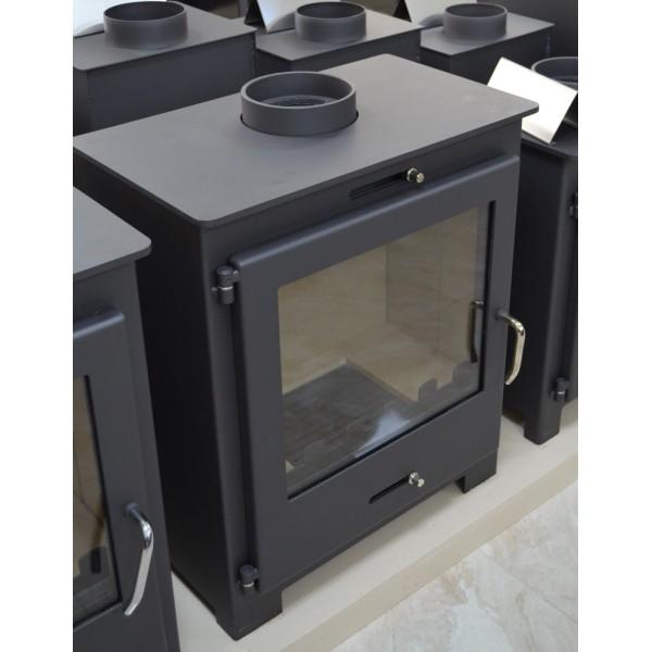 Wood Burning Stove Integral Boiler Fireplace Central Heating Log Burner 11-15 kW