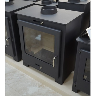Wood Burning Stove Fireplace Modern Solid Log Burner Water Jacket 11 Kw