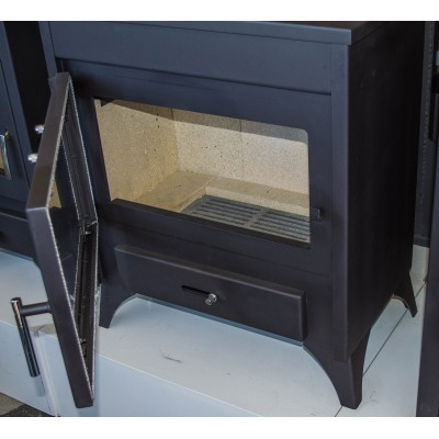 WOOD Burning Stove for Central Heating Fireplace Back Boiler MODENA B 13-21 kw