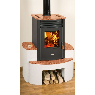 Wood Burning Stove Integral Boiler Fireplace Central Heating 15 kW Prity SB W10