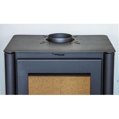 Wood Burning Stove Fireplace Log Burner WoodBurning Ceramic Glass 10kw TANGRA