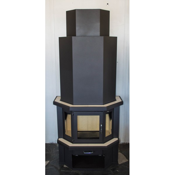 Wood Burning Stove Fireplace Log Burner Woodburning Solid Fuel Diplomat 18-32 kw