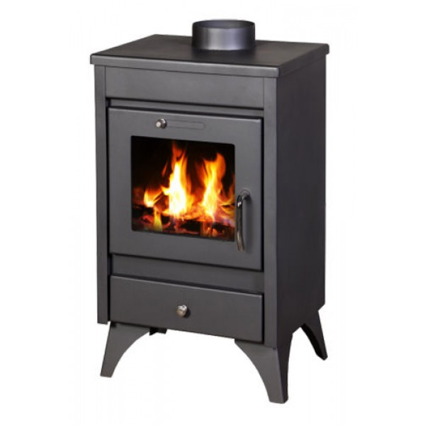 Wood Burning Stove Fireplace Log Burner Woodburning Stove Top Flue Outlet 9kw