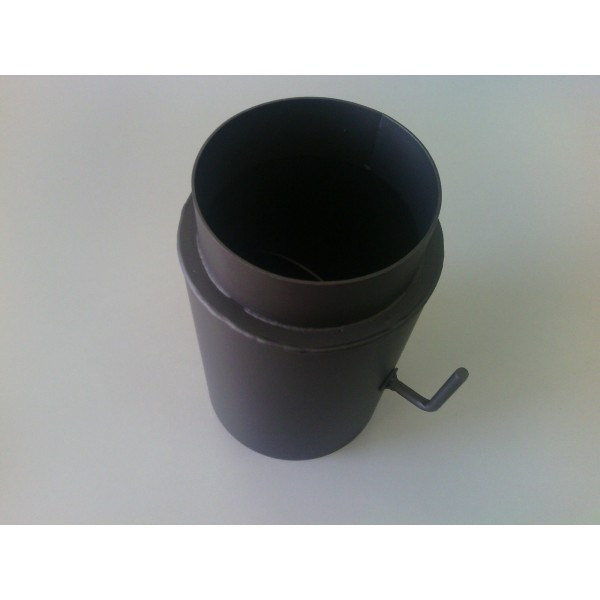 Chimney Flue Reducer with Damper Chimney Connector Adapter 150 mm to 130 mm