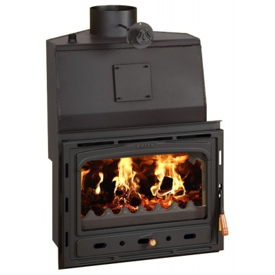 Fireplace Inset Insert  Boiler MultiFuel Built in Wood Burning 28kw PrityCW28