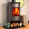Fireplace High Efficient Modern Log Burner Woodburning Stove 7 KW Rotating Base