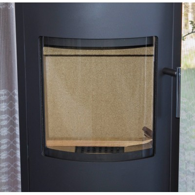 Fireplace High Efficient Modern Log Burner Woodburning Stove 7 KW Rotating Base