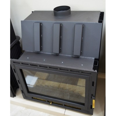Fireplace Insert Inset Firebox Wood Burning Built in Solid Fuel 14-22kw ADMIRAL