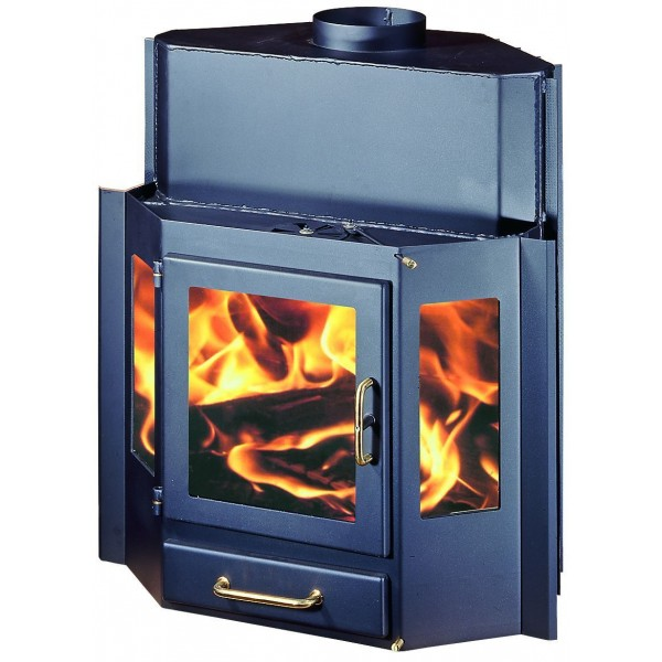 Fireplace Insert Inset Wood Burning Stove Built In Solid Fuel 18kw DIPLOMAT 22