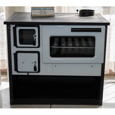 Wood Burning Cooking Stove Ognyana Black/White 9-14 kW