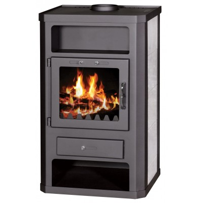 Wood Burning Stove 11-15 kW Ceramic Lining Niche Low Emissions BlmSchV-2