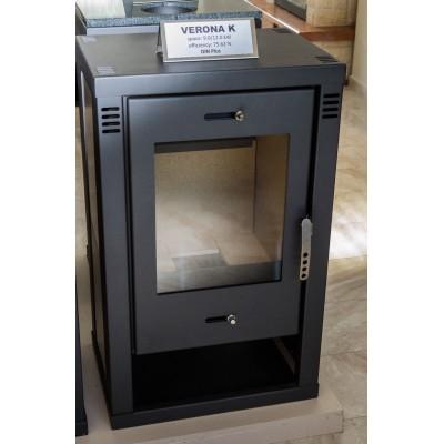 Wood Burning Stove 12 kW Integral Boiler Low Emissions BlmSchV-2 Ceramic Lining