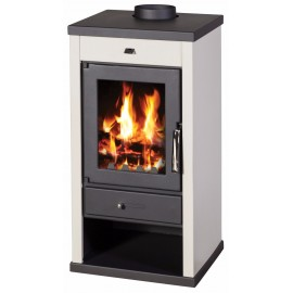 Wood Burning Stove 12-17 kW Top Flue Colored Sides BlmSchV1 VANESSA