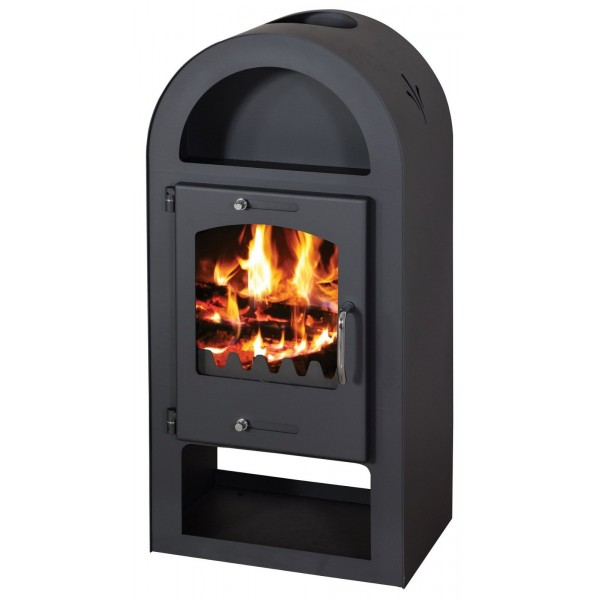 Wood Burning Stove 12kW Fireplace Log Burner Arch Low Emissions BlmSchV-1