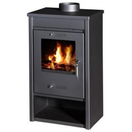 Wood Burning Stove 13 kW Fireplace Slim Design Top Flue DELUX LG