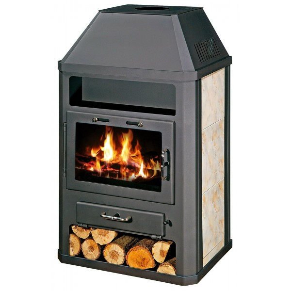 Wood Burning Stove 18 kW Integral Boiler Ceramic Lining Low Emissions BlmSchV-2